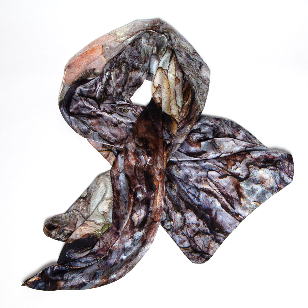 100% Black Pine scarf by Howard Guest