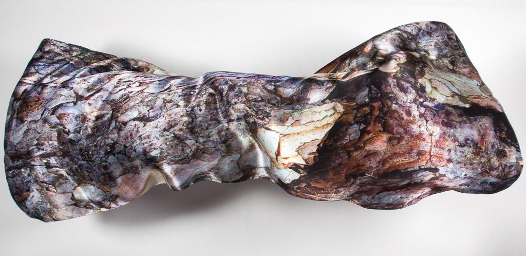 100% Silk Black Pine Scarf by Howard Guest