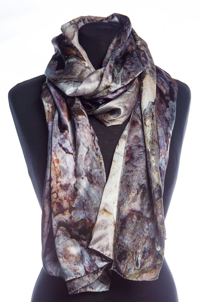 100% silk black pine scarf by Howard Guest original photograph at Trinity College, Cambridge