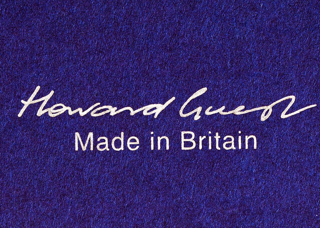 Howard Guest scarf box logo Made in Britain