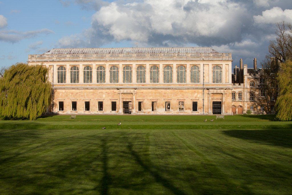 The Wren Library, Trinity College, Cambridge from the Backs