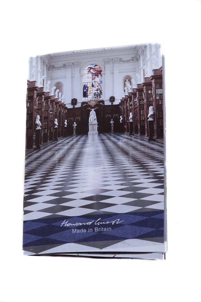 Newton scarf pamphlet. The cover photograph is the Wren Library at Trinity College, Cambridge.